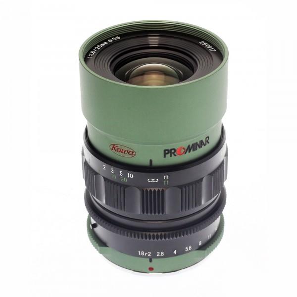 Kowa PROMINAR MFT 25mm f1.8 Green